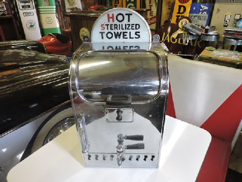 Vintage barbers shop  hot towel dispenser