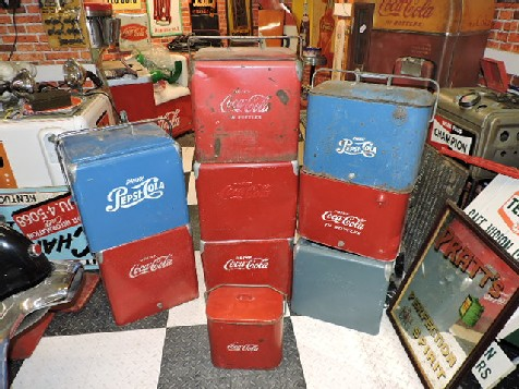 Pepsi and Coca Cola coolers