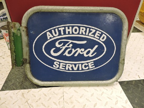 Double sided Ford painted tin sign