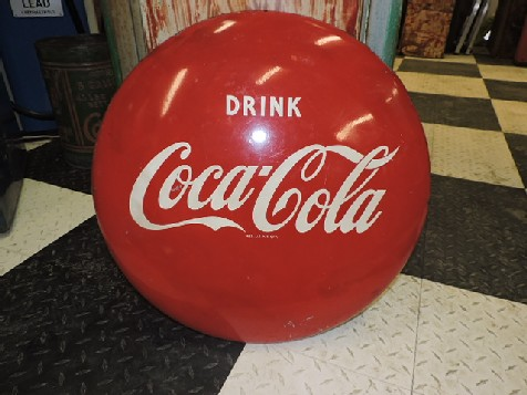 24 inch Drink Coca Cola tin button