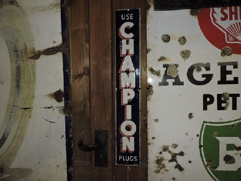 Rare 1913 Champion spark plug enamel sign