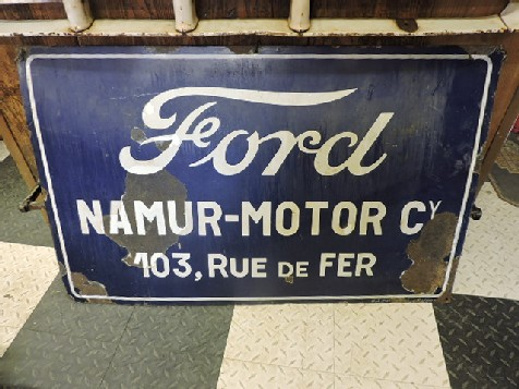 Early enamel Ford Namur Motor sign