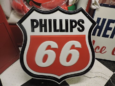 Phillips 66 gas station light up sign