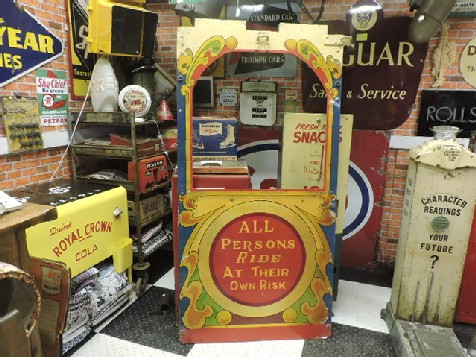 Original fairground kiosk door