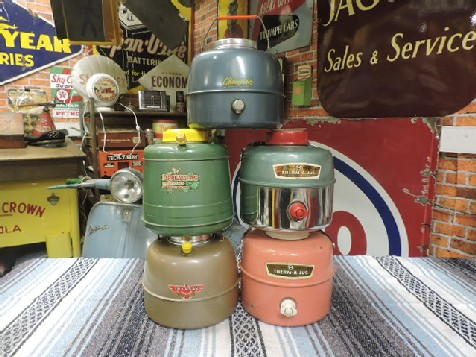 A selection of 1950s/1960s original hot and cold drink jugs/picnic thermos