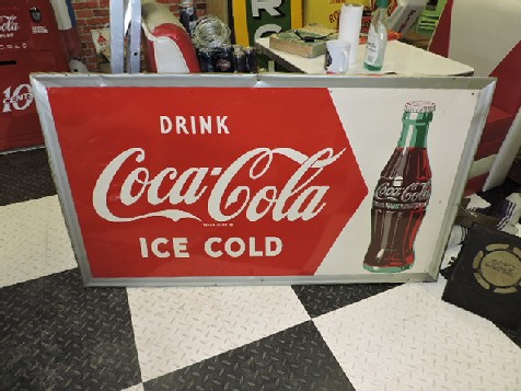 1951 Coca Cola tin sign