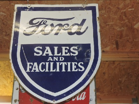 Rare enamel Ford Sales And Facilities shield sign