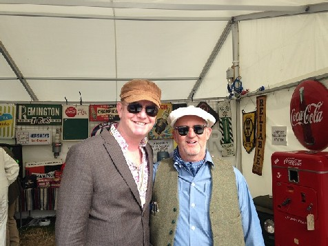 Me and Chris Evans at Goodwood Revival