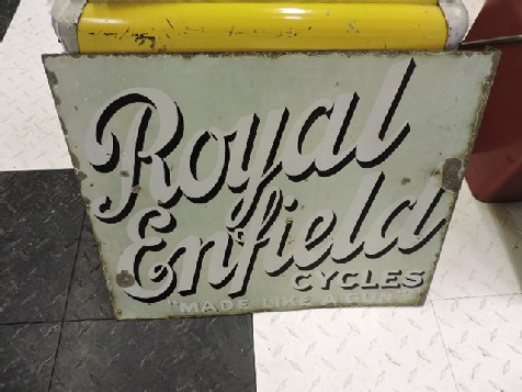 Royal Enfield cycles enamel sign