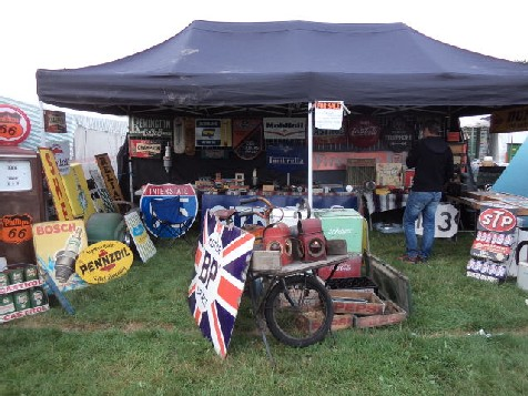Our stall at the September Beaulieu Auto Jumble