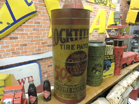 Rare Locktite tire patch counter display