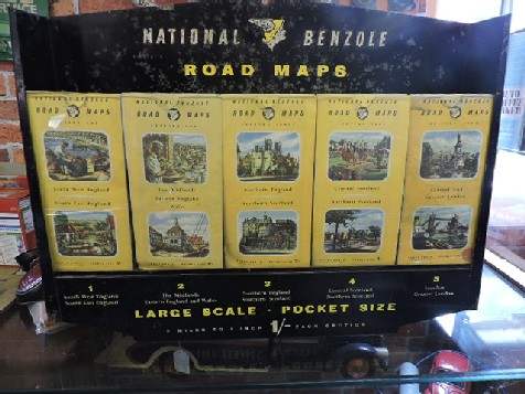 National Benzole map display with maps