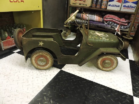 Original 1950s Triang Willys Jeep pedal car