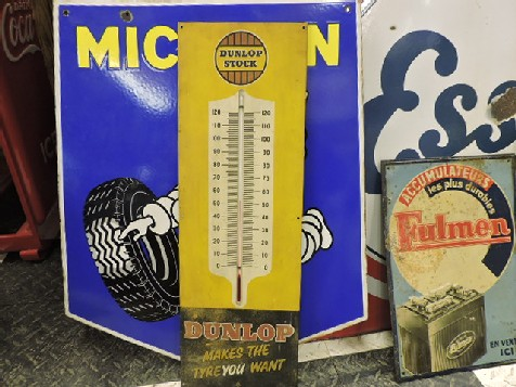 Dunlop stock working thermometer sign