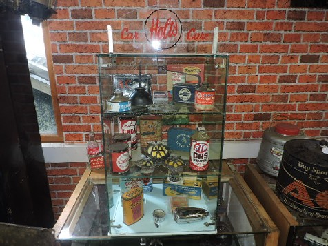 Glass Holts car care display cabnet