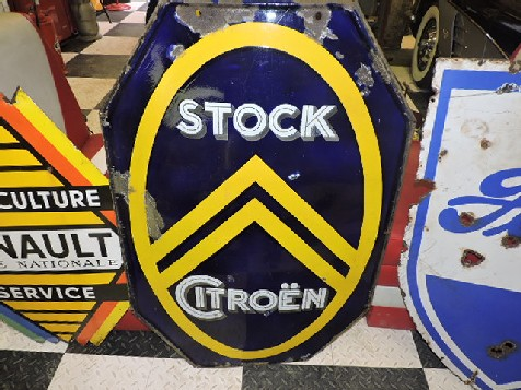 Original enamel Citroen stock dealership sign