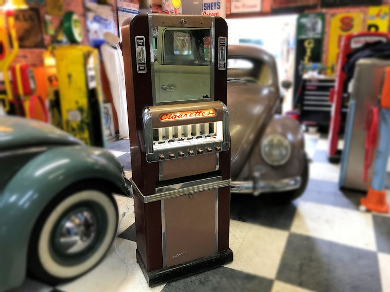 1950s cigarette vending machine