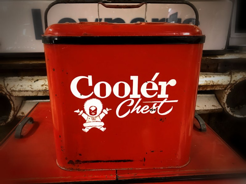 1950s Eskimo Cooler Chest