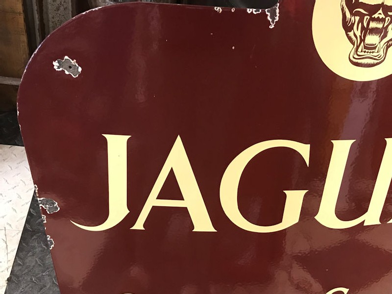 Rare enamel Jaguar sales and service sign