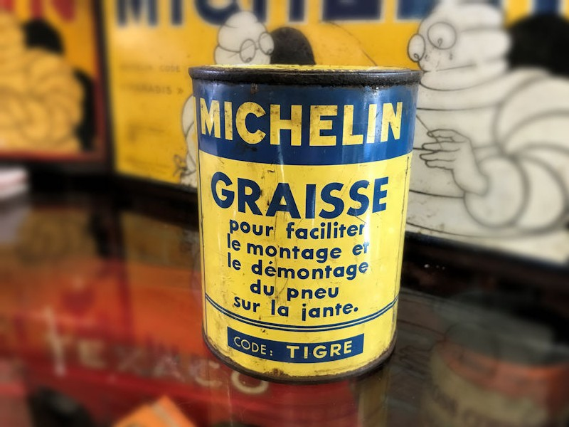 Early Michelin grease tin