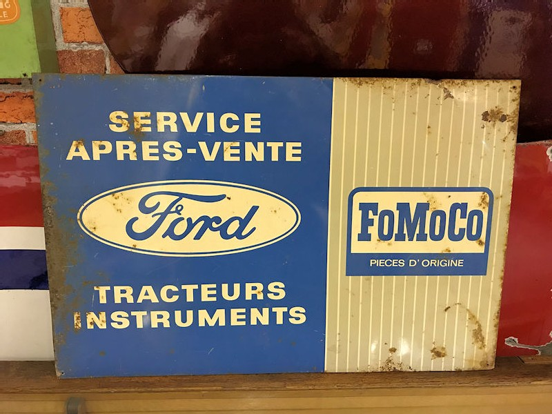 1950s/1960s tin Ford Fomoco Tractor Service sign