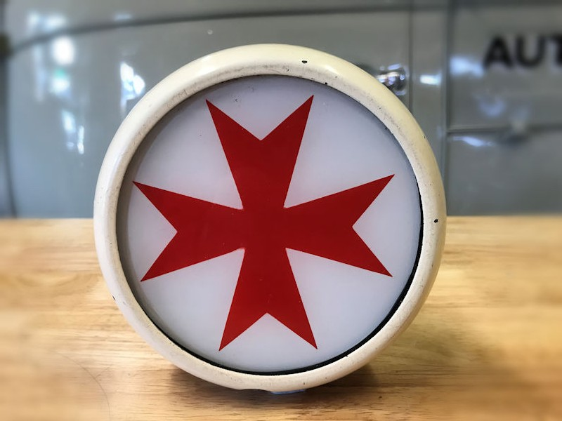 All original Maltese cross ambulance light