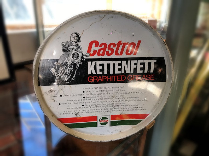 Original German Castrol chain grease tin