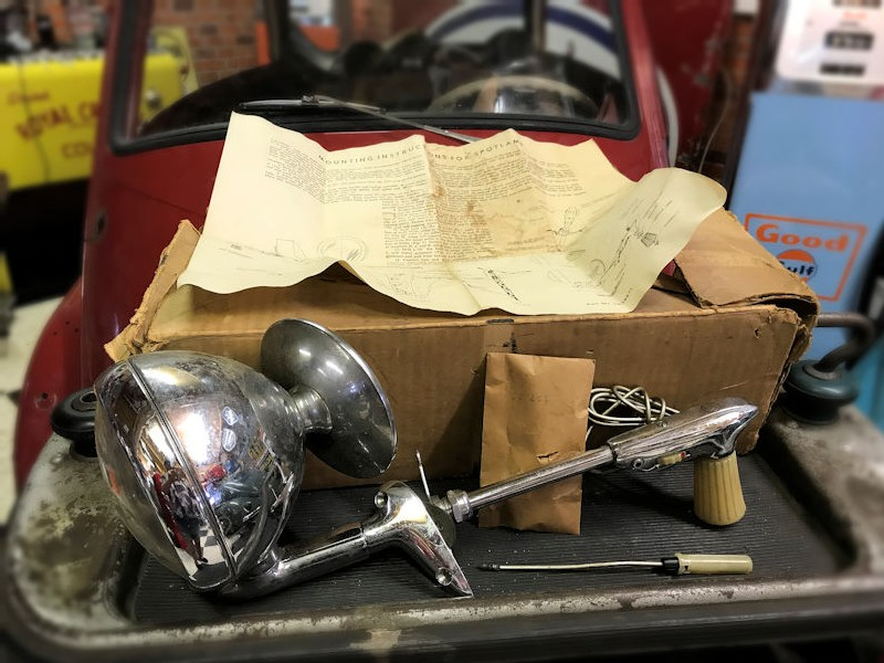 NOS new old stock GMC spotlight and mirror
