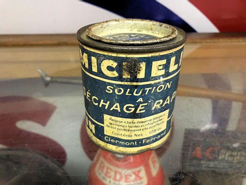 1930s Michelin glue tin