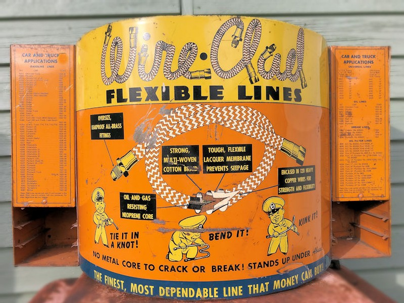 Original 1930s Wire Clad Flexible Lines wall or counter top display