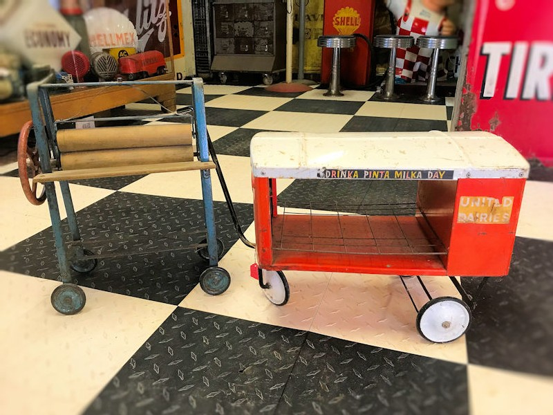 Original Tri-ang childrens toy mangle and milk float
