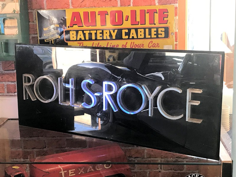 Original perspex Rolls Royce dealership sign