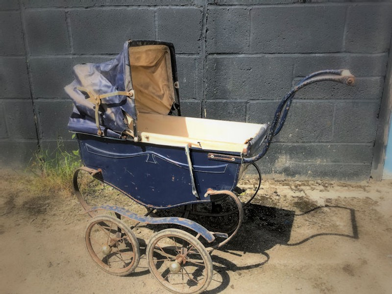 Vintage childs toy pram