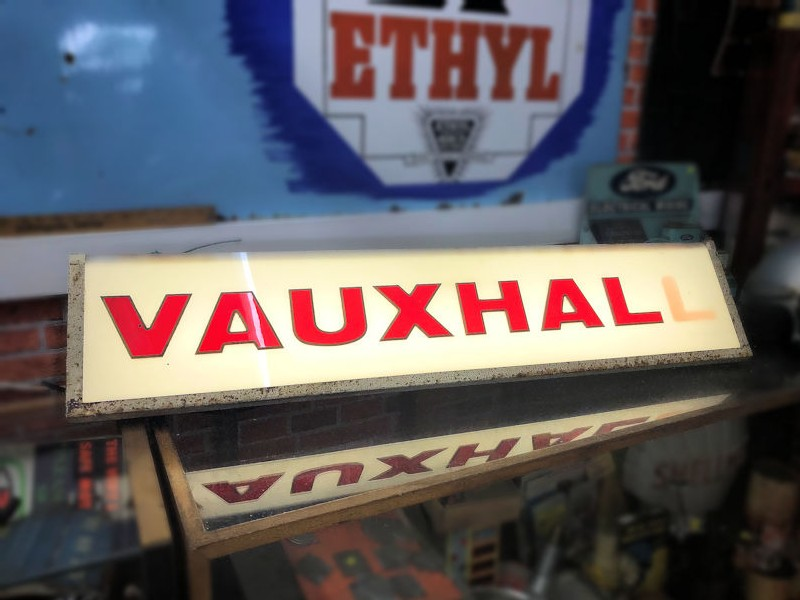 Original Vauxhall dealership lightbox