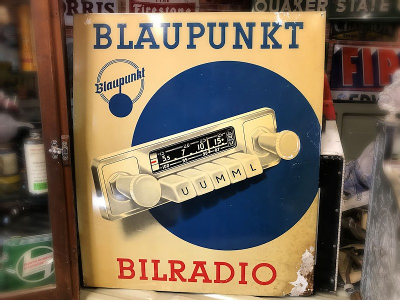 Blaupunkt radio litho printed tin sign