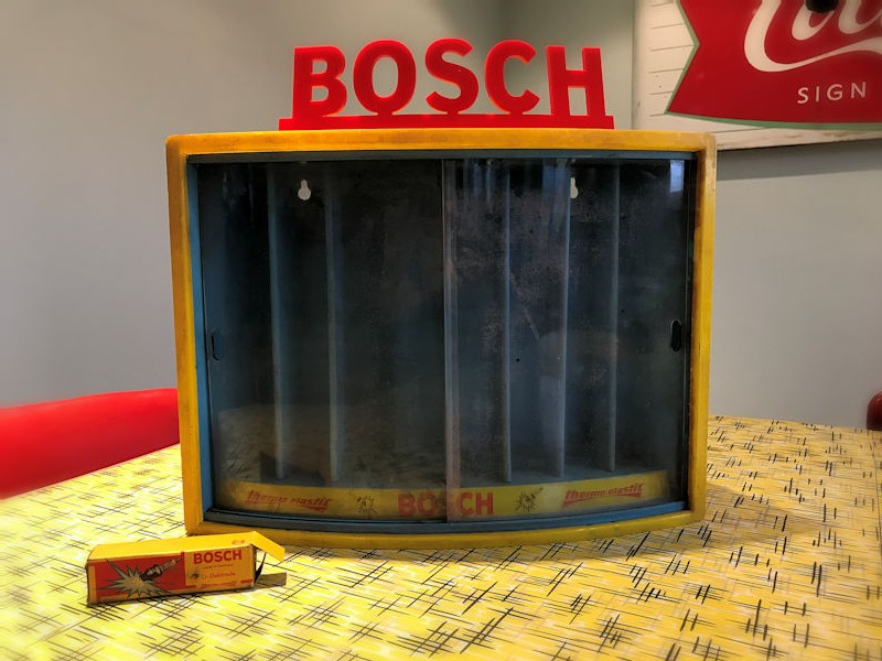 Bosch spark plug display cabinet