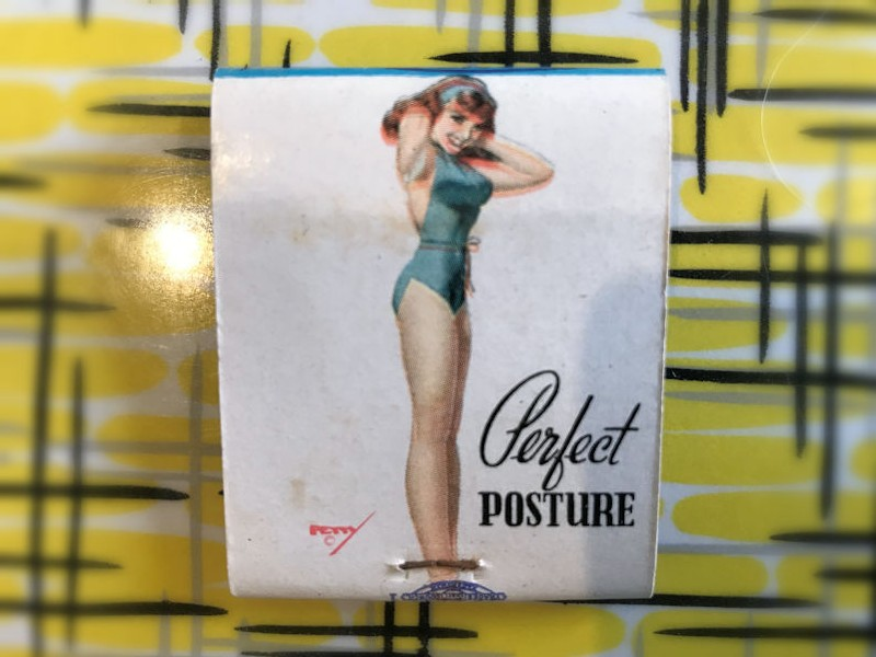 New old stock 1960s theme park pin up girls matches