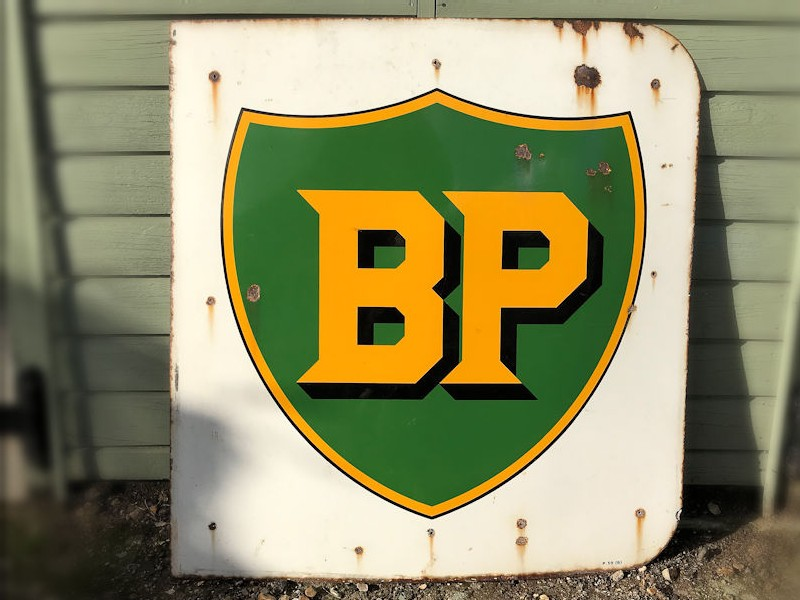 Orignal enamel BP sign
