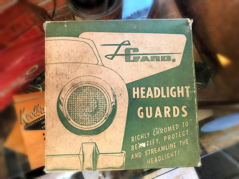 Original NOS Dobard headlight guards