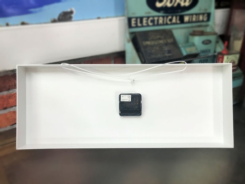 Plastic rectangle Bosch Super battery operated clock