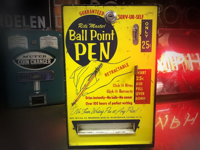 Vintage Rite Master ball point pen dispenser