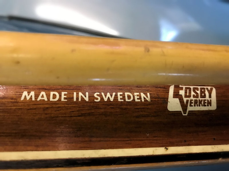 Original vintage Swedish skis