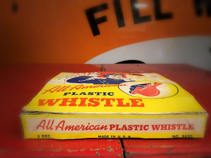 1950s NOS whistle counter display