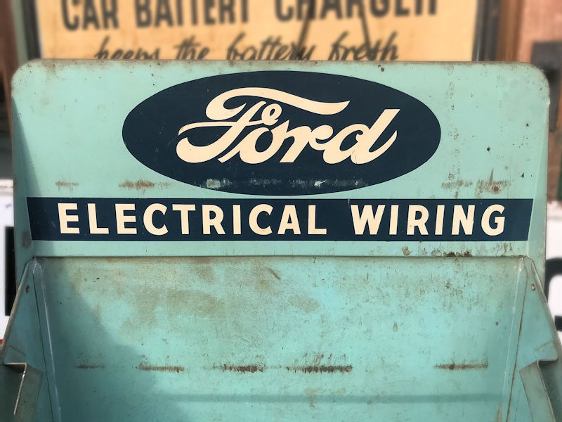 Rare original Ford electrical wiring counter top display with drawer