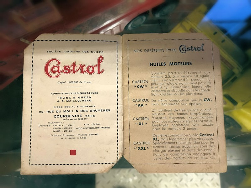 1934 Castrol oil booklet