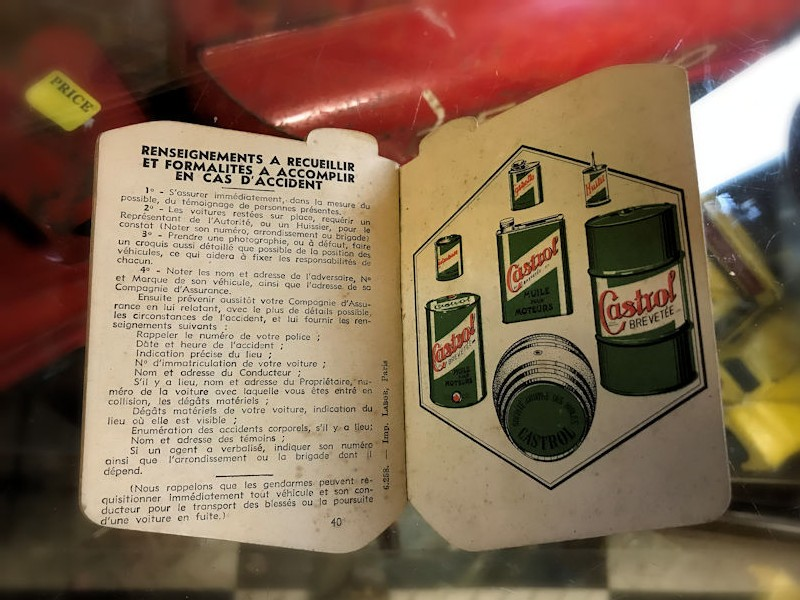 Castrol double sided motoring almanac and note book
