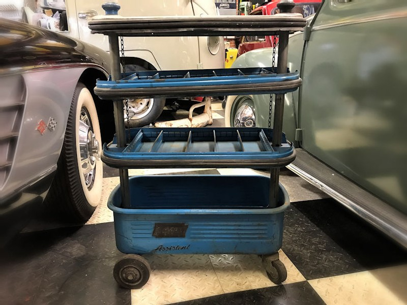 Original 1960s Hazet Assistent tool trolley