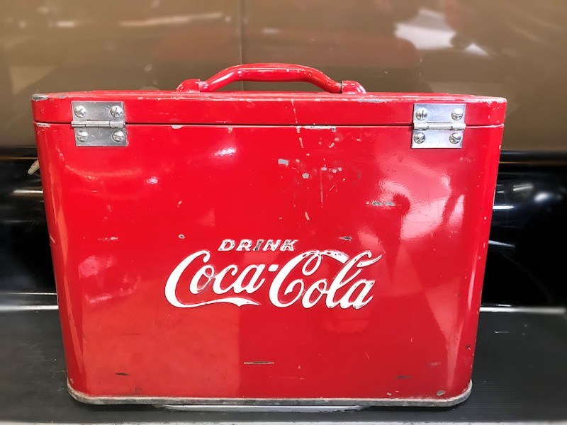 Rare original Coca Cola airline cooler