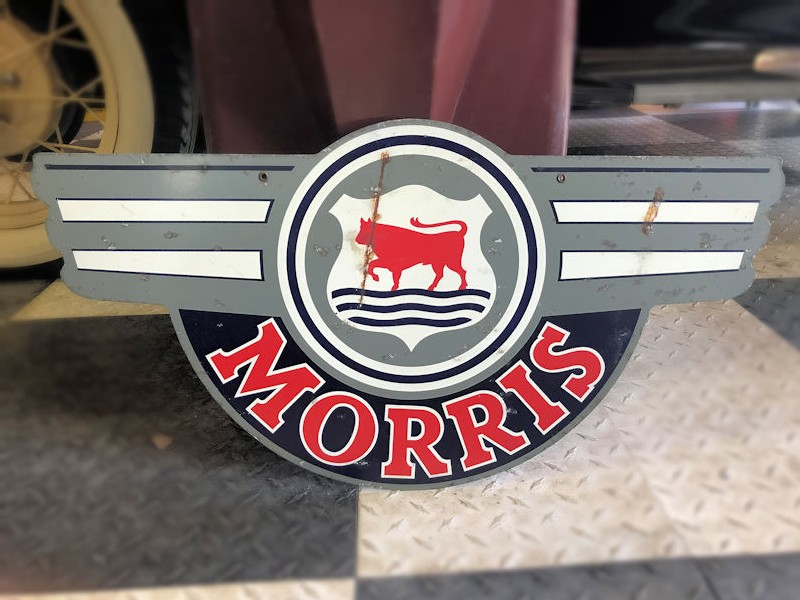 Double sided printed tin Morris sign
