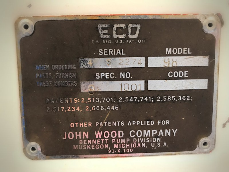 Original unrestored Eco 98 air meter